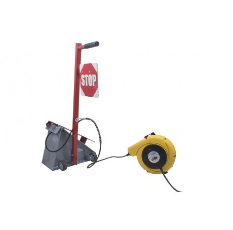Cale de roue manuelle electrique